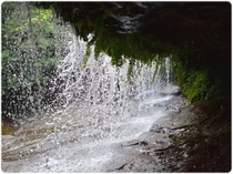 裏側に入れる滝もあります