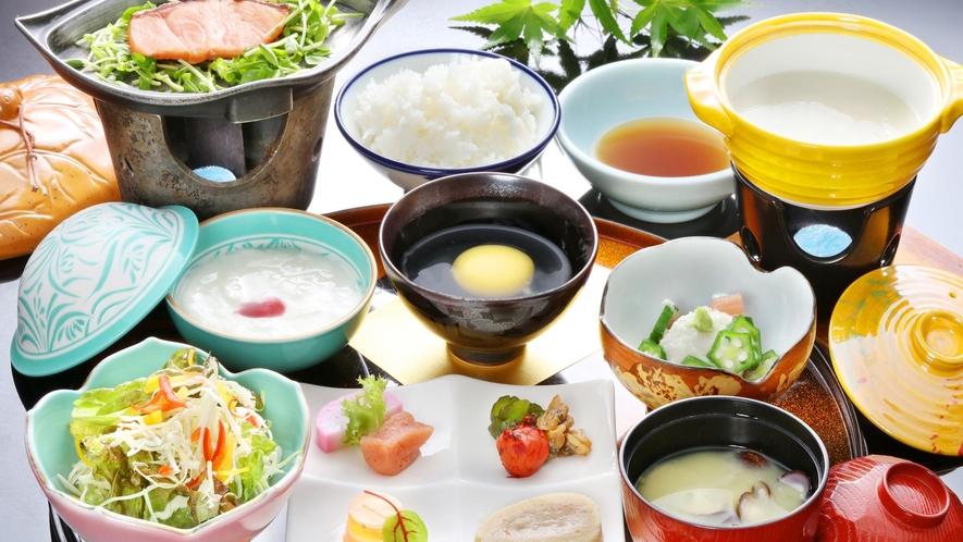 【朝食一例】朝から食べやすい和朝食をご用意いたします。