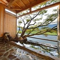 *【貸切風呂】岩風呂…大自然の一角を切り取ったような雰囲気で、四季を直に感じられます!
