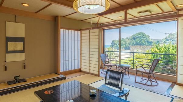 【禁煙室】スモールコーナールーム 和室8帖+広縁 部屋食