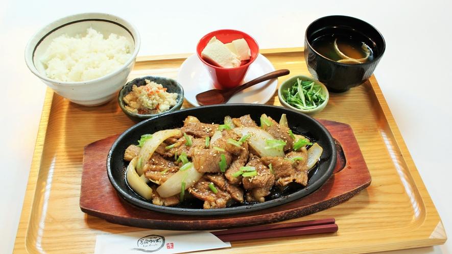 【選べる定食】牛バラスタミナ鉄板焼き