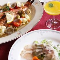 *夕食一例/伊豆の海の幸を中心に季節の食材を活かした和洋折衷料理でおもてなし!