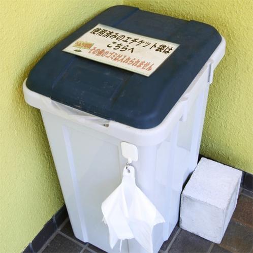 *ダストボックス/玄関脇にはうんちBOXあり。細かい配慮を忘れません。