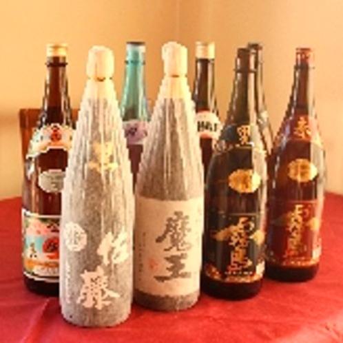 *珍しい焼酎や美味しいお酒も豊富にご用意しております!