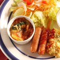 *朝食一例/洋食スタイルの朝食。しっかり食べて今日も元気にわんこと遊ぼう♪