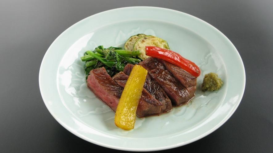 【牛肉あじわい会席】和風ステーキ
