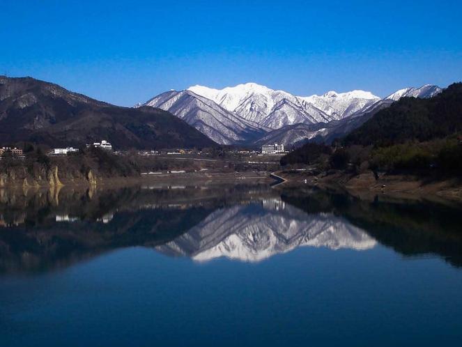 赤谷湖から三国連山