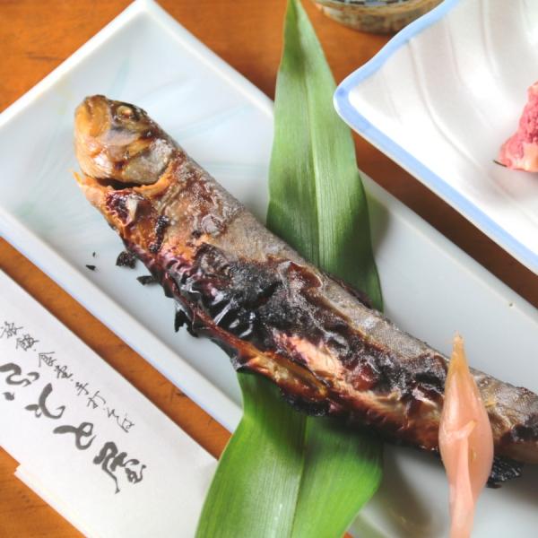 夕食単品_岩魚の味噌焼き