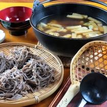 夕食_とうじ蕎麦全体