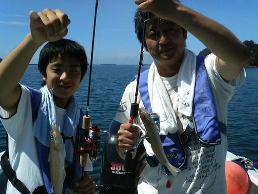 釣った魚を調理します!  手ぶらでGO!港内魚釣り プラン♪