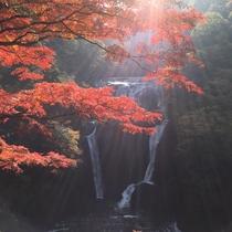 *【袋田の滝】当館よりお車で約15分。例年11月上旬~中旬に紅葉は見頃を迎えます。