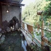 渓谷を望む露天風呂