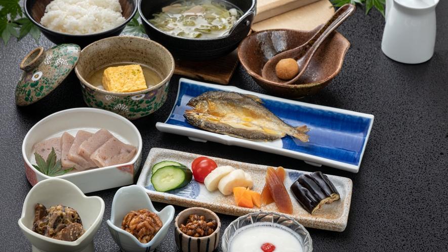 【朝食】からだに優しい旅館の和朝食 一例