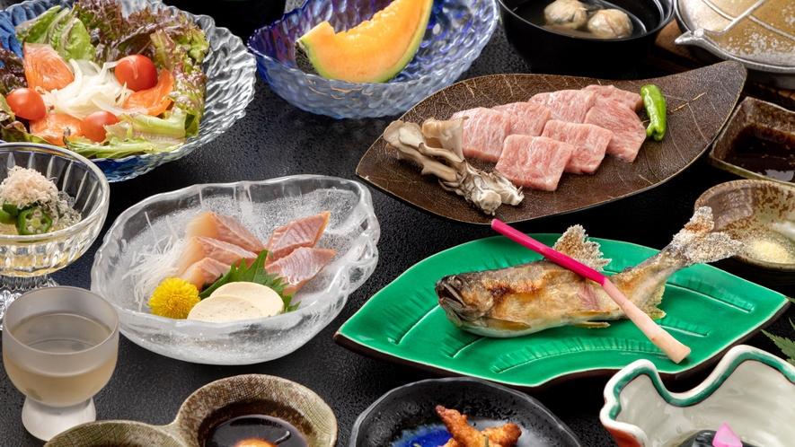【夕食】鳳来牛ステーキ付きプラン 一例