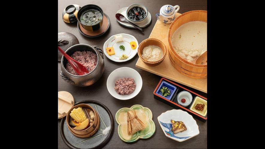 【朝食】からだに優しい薬膳朝食 一例