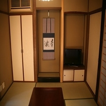 純和風空間を演出した室内