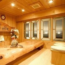 ■岩盤浴 休憩所