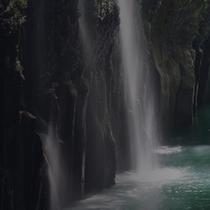 *<高千穂峡>自然が生み出した雄大な景色。