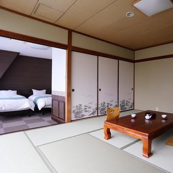 (個室食)◇デラックス和洋室◇和室10畳+ツインベッド