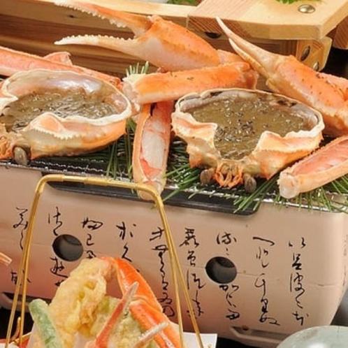 カニ味噌甲羅焼きと焼ガニ