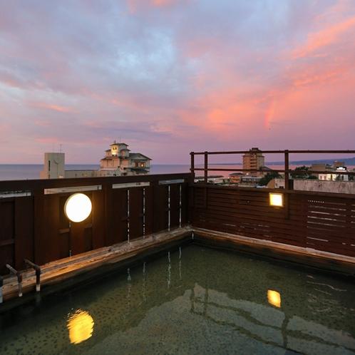 屋上露天風呂「大空海」