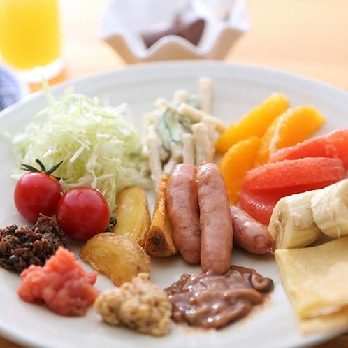 朝食ハーフバイキング