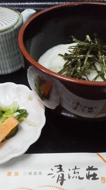 【朝食付き】三朝ひとあさ♪朝食大人気!おかわり大歓迎!名物『麦めしとろろご飯』&まずは湯葉!豆乳鍋♪