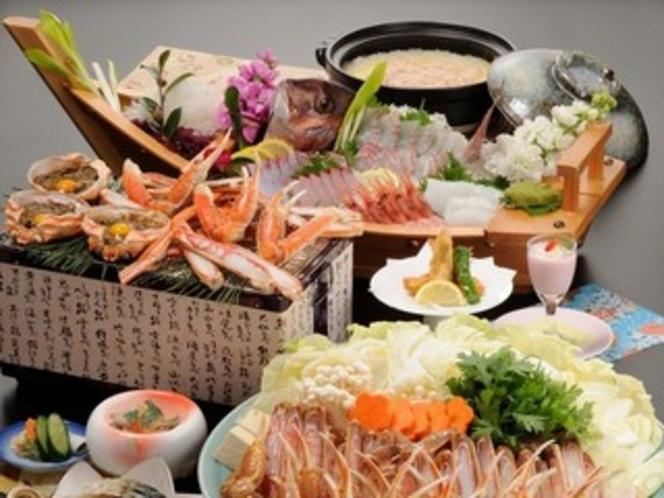 かに会席(料理一例)