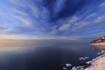 幌別海岸から見た流氷