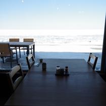 ■冬期間ご朝食■晴天の日には圧巻!知床世界自然遺産海域の流氷を眺めながら朝食をお召し上がりください