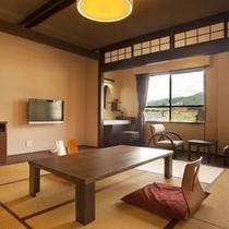 【桔梗亭◇和室8畳】山側。温泉と食事と観光をリーズナブルな価格でお愉しみ頂けます