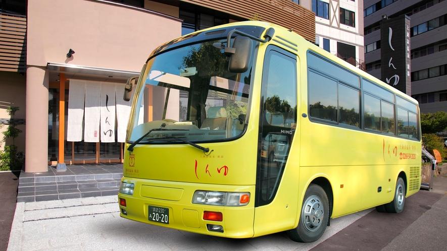 【無料参拝バス】毎日午前と午後の2便、諏訪大社四社巡りを運行しております。