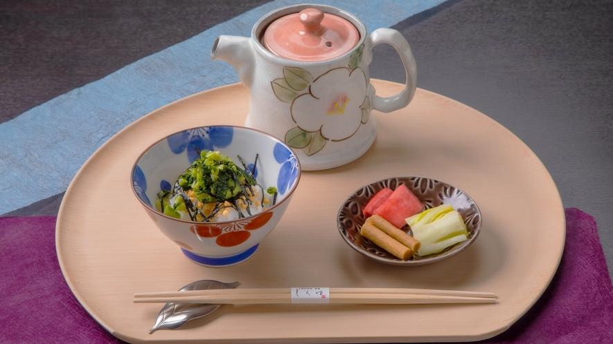 【美湖膳】2021春メニュー≪お食事≫信州野沢菜のお茶漬け