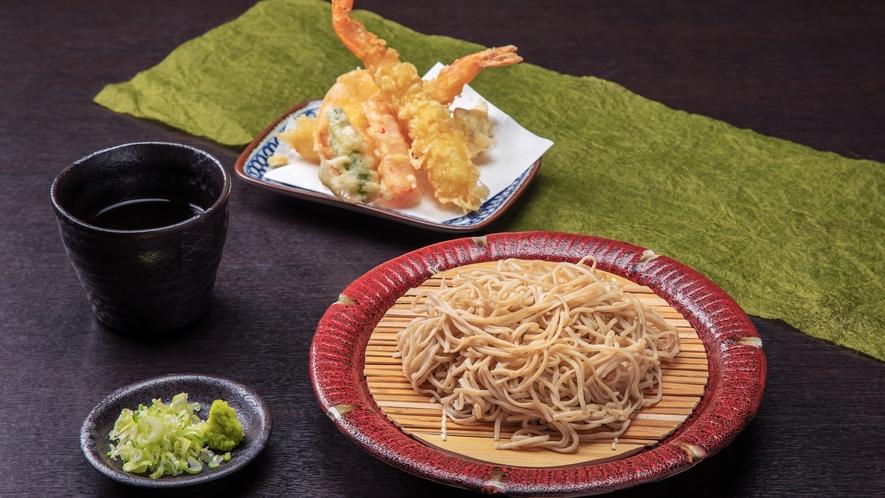【連泊】選べるご昼食◇自家製天ぷらそば