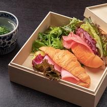 【連泊】選べるご昼食◇オープンサンド