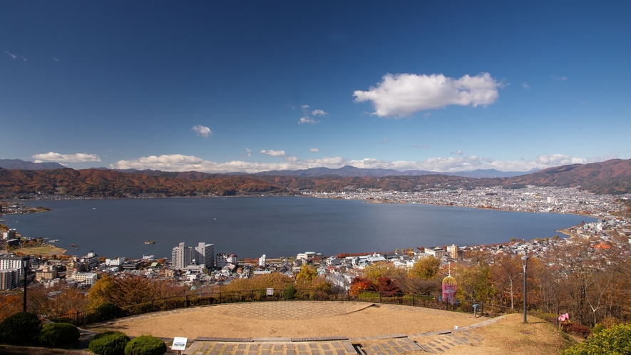 【諏訪観光】立石公園から諏訪湖を一望。