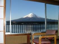お部屋からの富士山        (お天気の良い時の眺め)