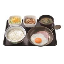 朝食 例2 吉野家で使える380円分のチケットをお渡しいたします。