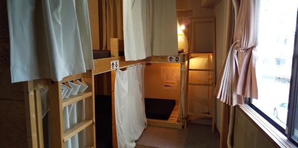 女性ドミトリー2段ベッド1台