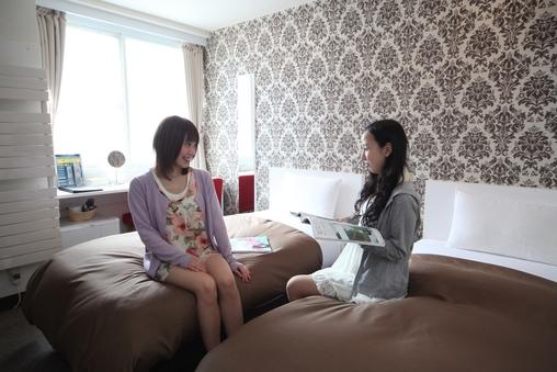 【女性専用禁煙】ツインルーム ベッド2台(幅100cm)