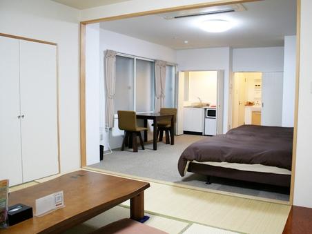 【禁煙】ファミリー・和洋室・ベッド2台(幅120cm)