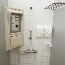個室シャワーは使い勝手の良いスペースです。