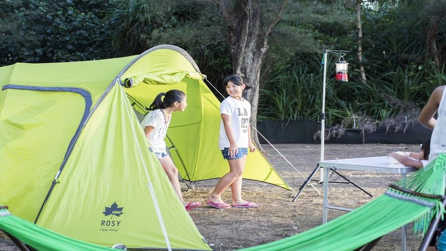 館内にはキャンプ場もございます。