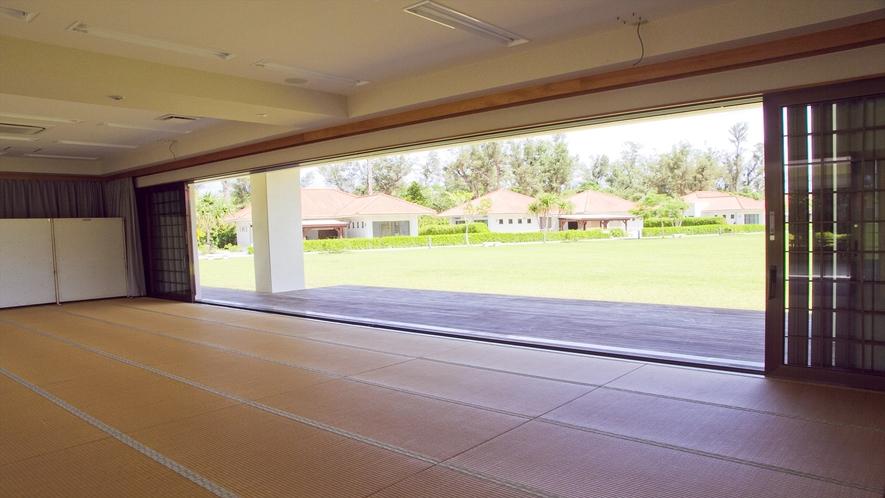 50畳の和室は会議・研修・サークル会場として利用頂けます。
