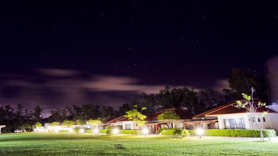 夜はキャンプファイヤーや花火にもご利用できます。