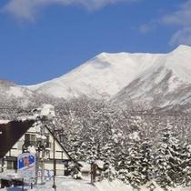 *雪の羊蹄山①