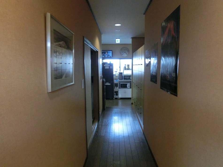 Hall Way To Dorms and Smoking Area