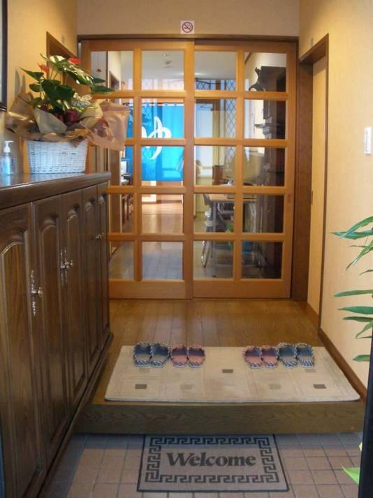 Hostel Front Door Entrance