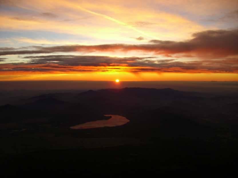 Sunrise On Top Of Mt Fuji