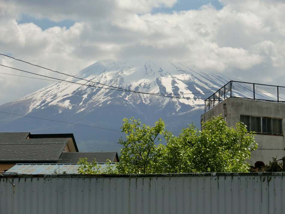 View Of Mt Fuji From The Smoking Area